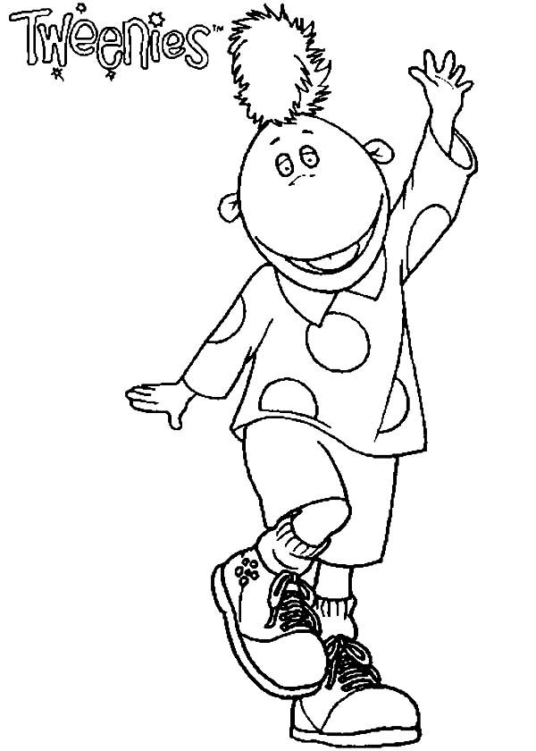 Tweenies, : Jake Tweenies Dance Move Coloring Pages