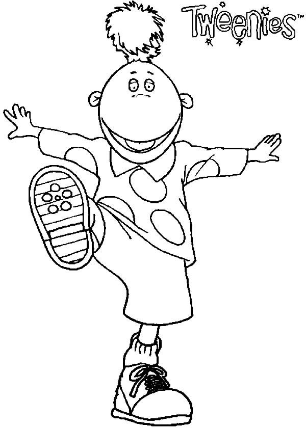 Tweenies, : Jake Tweenies Sneaker Coloring Pages
