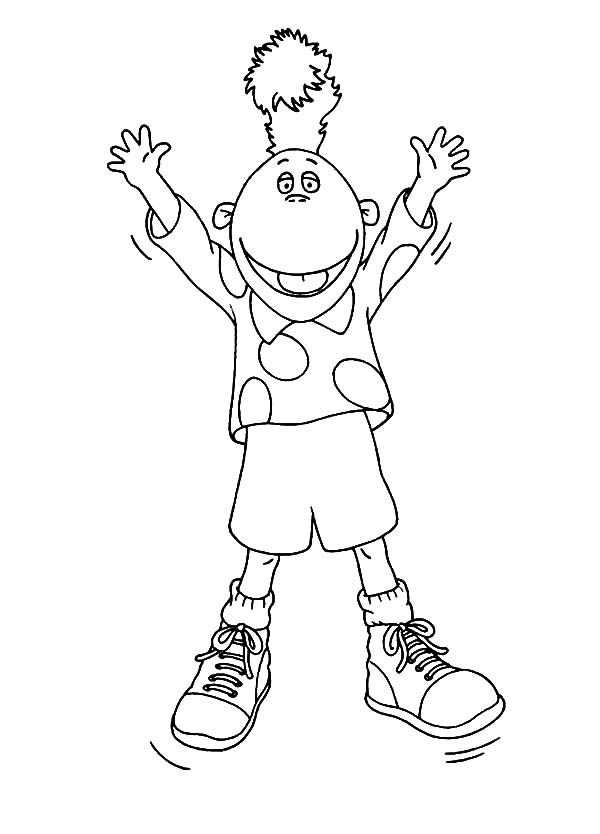 Tweenies, : Jake Tweenies is Very Happy Coloring Pages