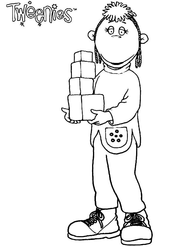 Tweenies, : Judy Tweenies Bring Little Boxes Coloring Pages