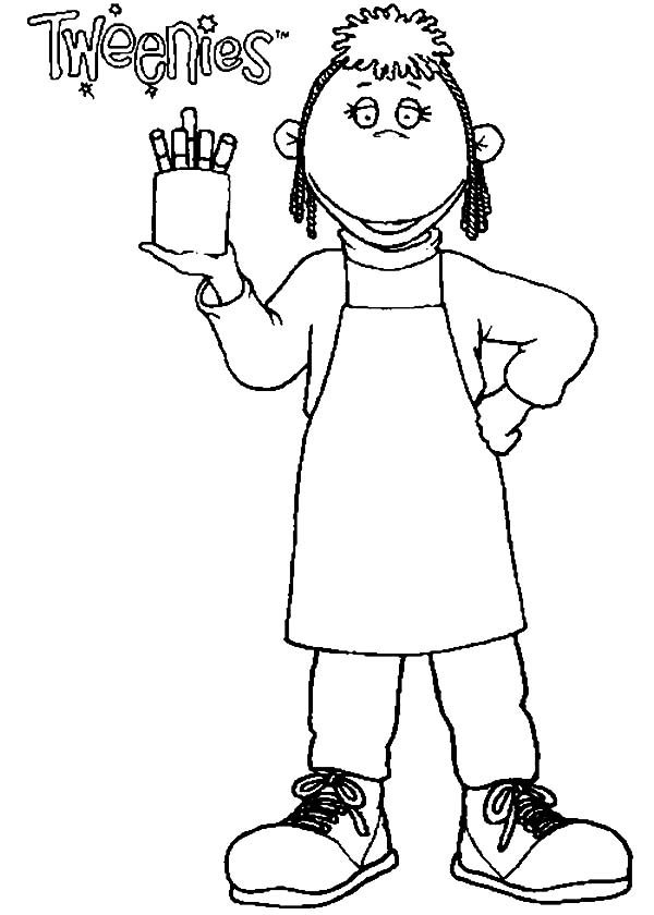 Tweenies, : Judy Tweenies and Her Pen Collection Coloring Pages