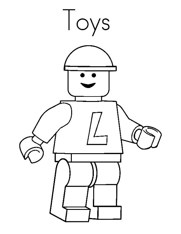 Toys, : Lego Construction Worker Toys Coloring Pages
