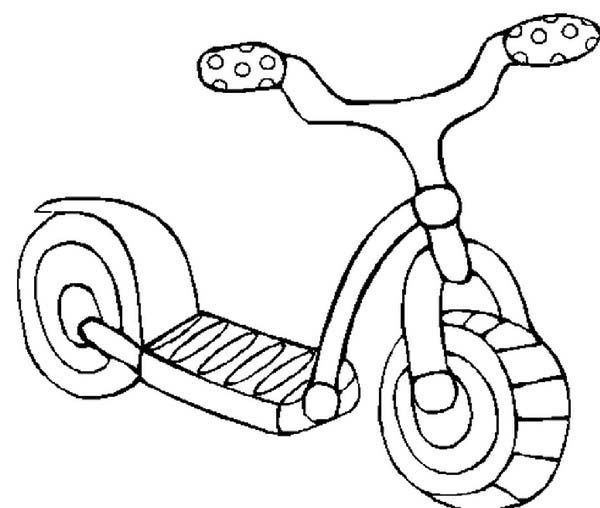 Toys, : Little Bike Toys Coloring Pages