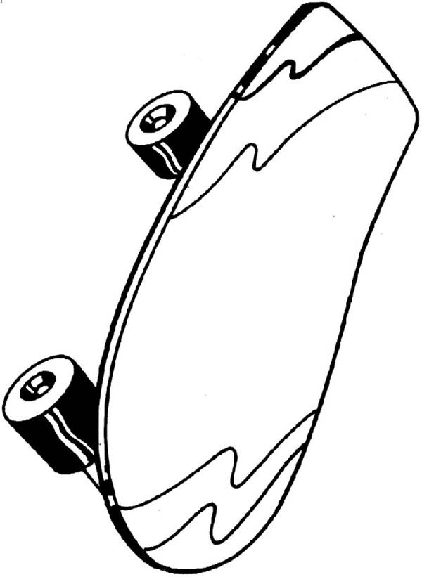Toys, : Little Kids Toys Skateboard Coloring Pages
