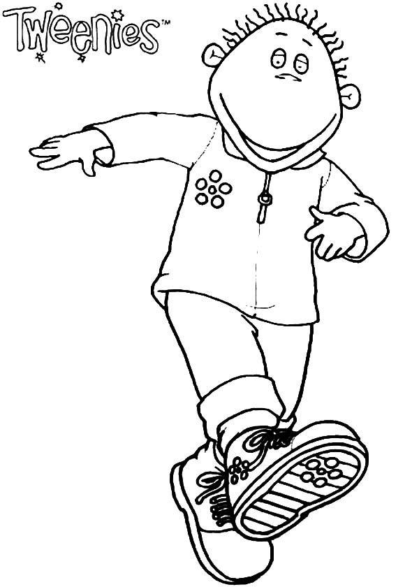 Tweenies, : Milo Tweenies Walking Kicking Coloring Pages