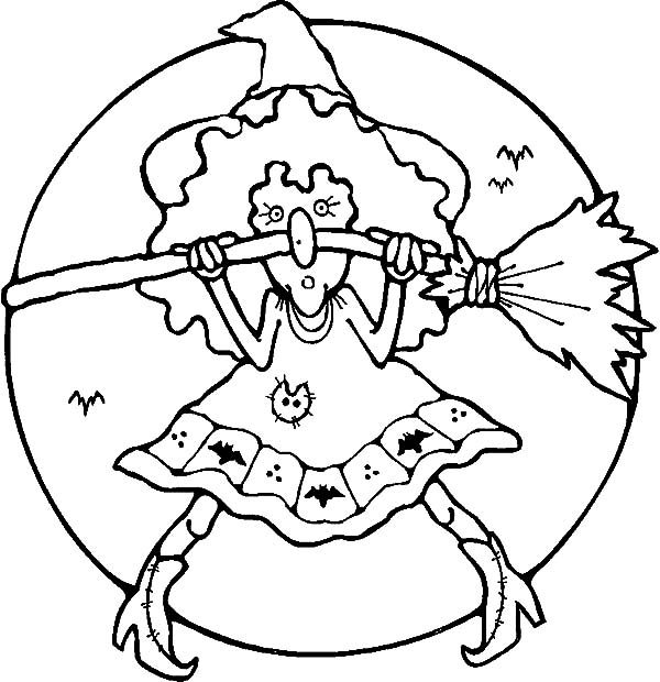 Witch, : Ridiculous Witch Coloring Pages
