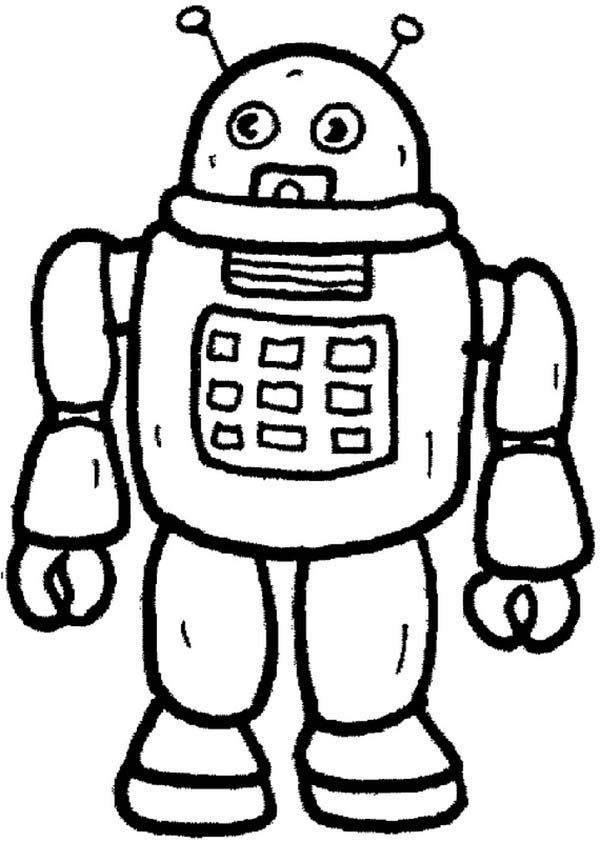 Toys, : Robot from Future Toys Coloring Pages