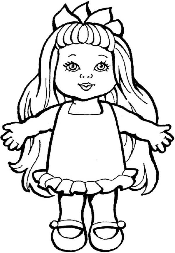 doll coloring book pages - photo#16