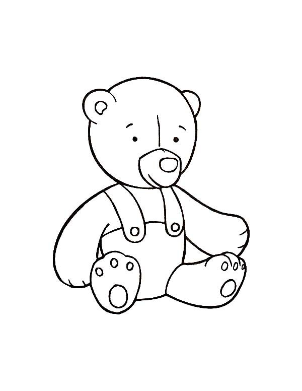 Toys, : Teddy Bear Toys Coloring Pages