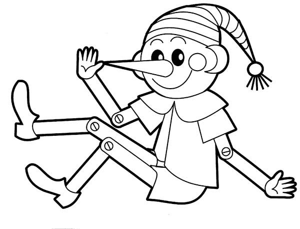 Toys, : Toys Pointed Nose Clown Coloring Pages