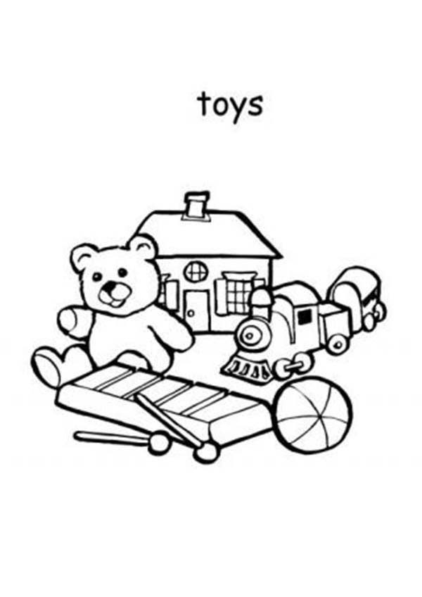 Toys, : Toys for Boys Coloring Pages