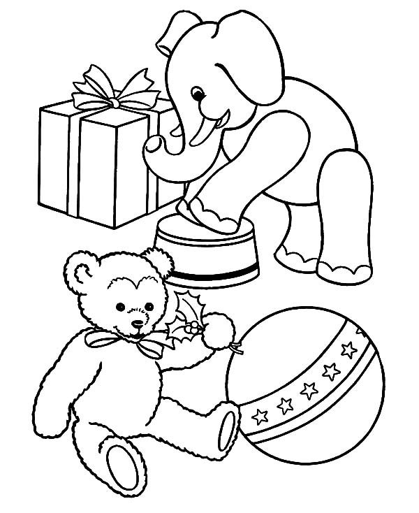 toys for christmas presents coloring pages - Christmas Present Coloring Pages