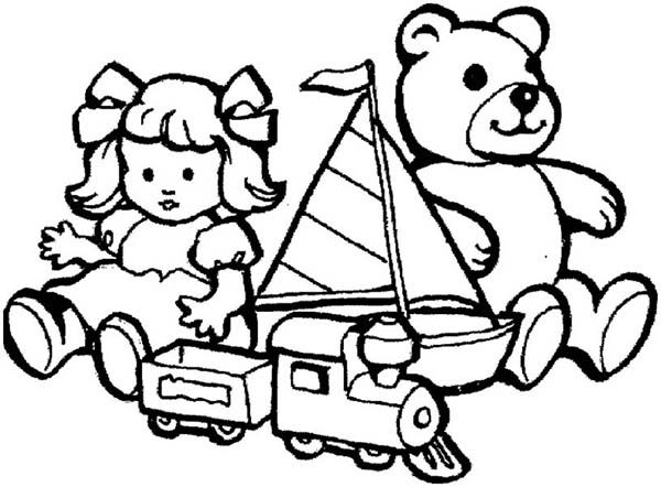Toys, : Toys for Little Kids Coloring Pages