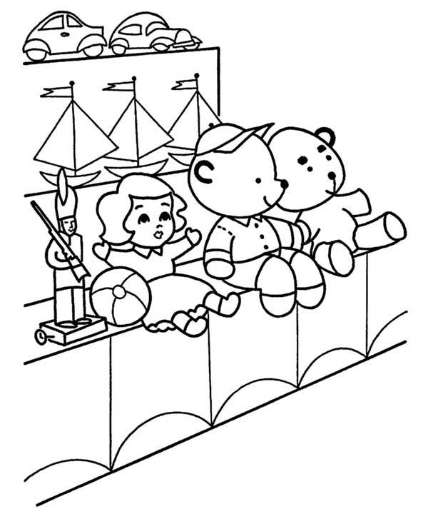 Toys, : Toys for Sales Coloring Pages