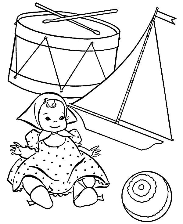 Toys, : Toys from Santa Claus Coloring Pages
