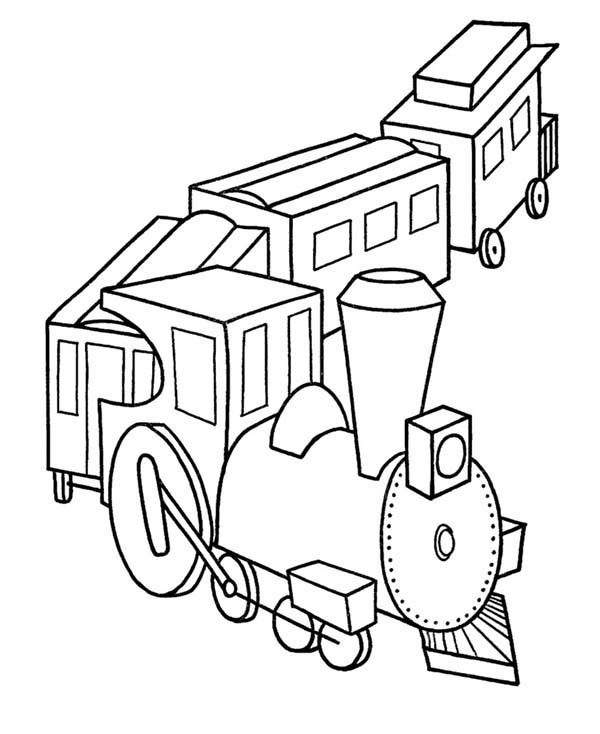 Toys, : Train Model Toys Coloring Pages