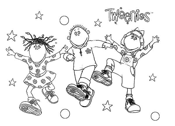 Tweenies, : Tweenies Having Fun Coloring Pages
