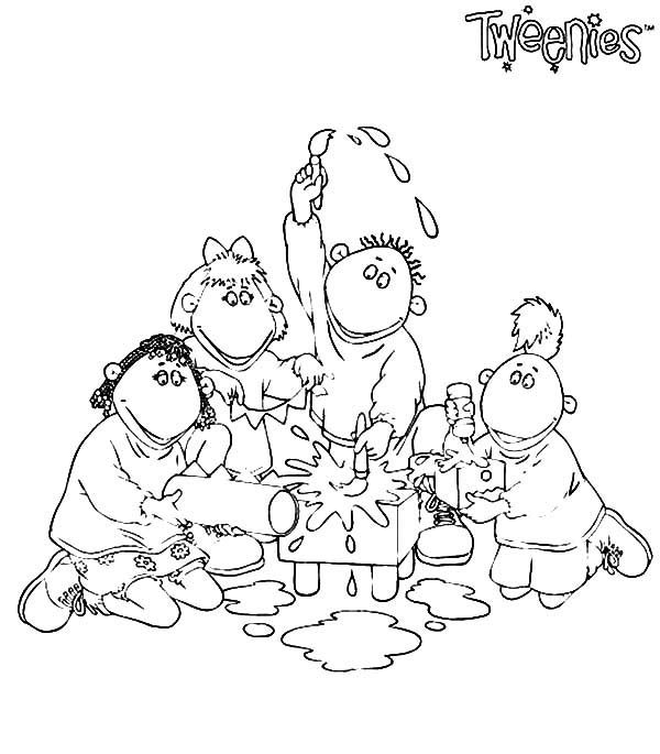 Tweenies Learning to Paint Coloring Pages | Best Place to Color