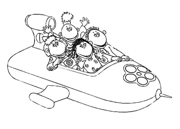 Tweenies Ride Spaceship Coloring Pages