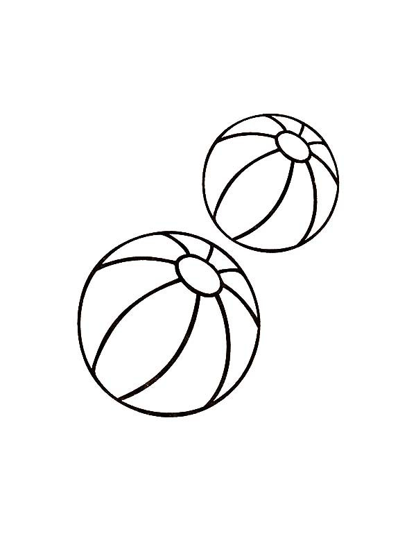 Two Balls Toys Coloring Pages
