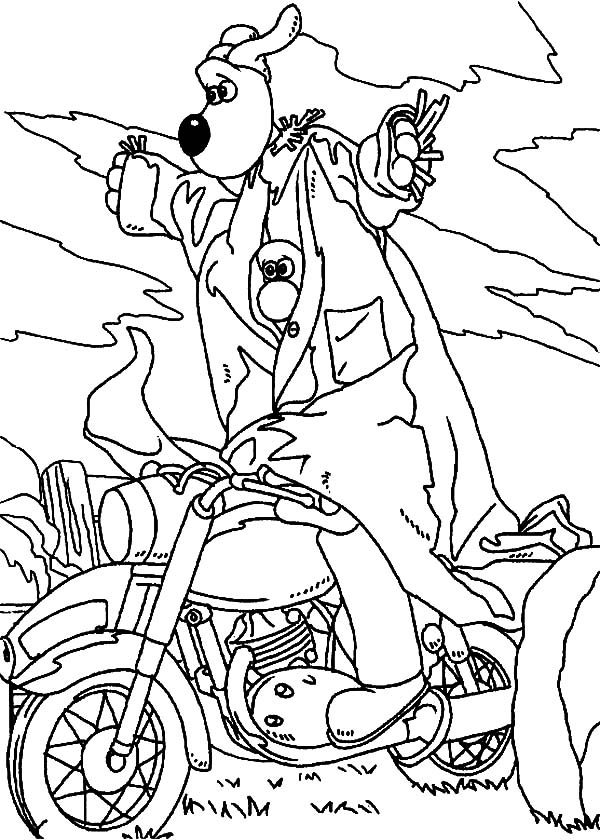 Wallace and Gromit, : Wallace and Gromit Become Scarecrow Coloring Pages