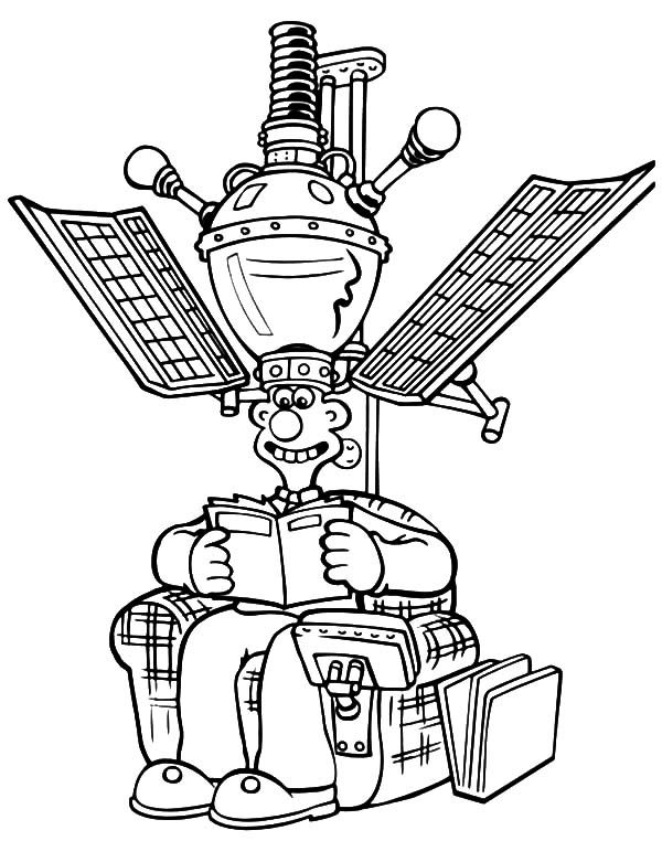 Wallace and Gromit, : Wallace and Gromit Hightech Arm with Satellite Chair Coloring Pages
