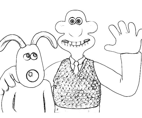 Wallace and Gromit, : Wallace and Gromit Picture Coloring Pages