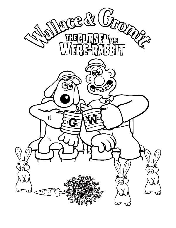Wallace and Gromit, : Wallace and Gromit the Curse of the Were Rabbit Coloring Pages