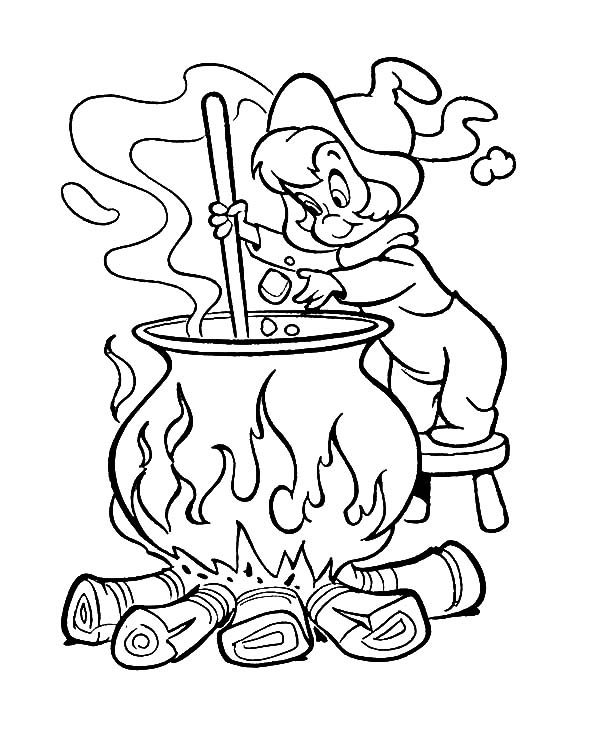 Witch, : Wendy the Witch Coloring Pages