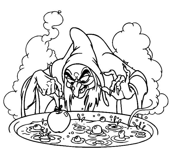 Witch, : Witch Big Pot of Poison Coloring Pages