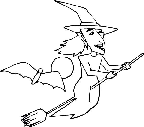 Witch, : kids Drawing Witch Coloring Pages