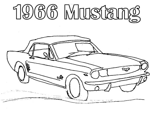 Car Mustang, : 1966 Mustang Car Coloring Pages
