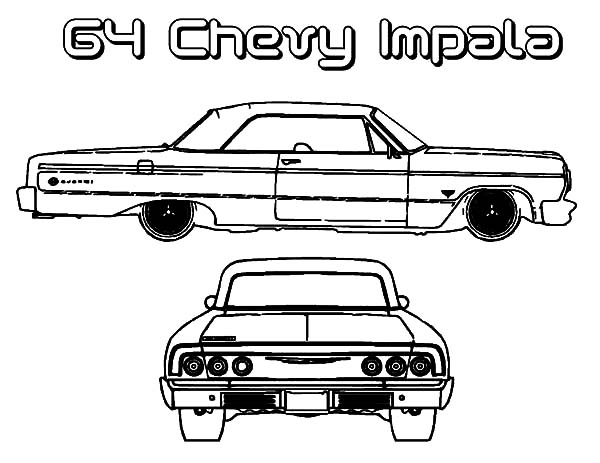 Chevy Cars, : 64 Chevy Cars Impala Coloring Pages