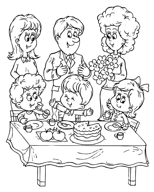 Birthday Boy, : A Family Celebrate Birthday Boy Party Coloring Pages