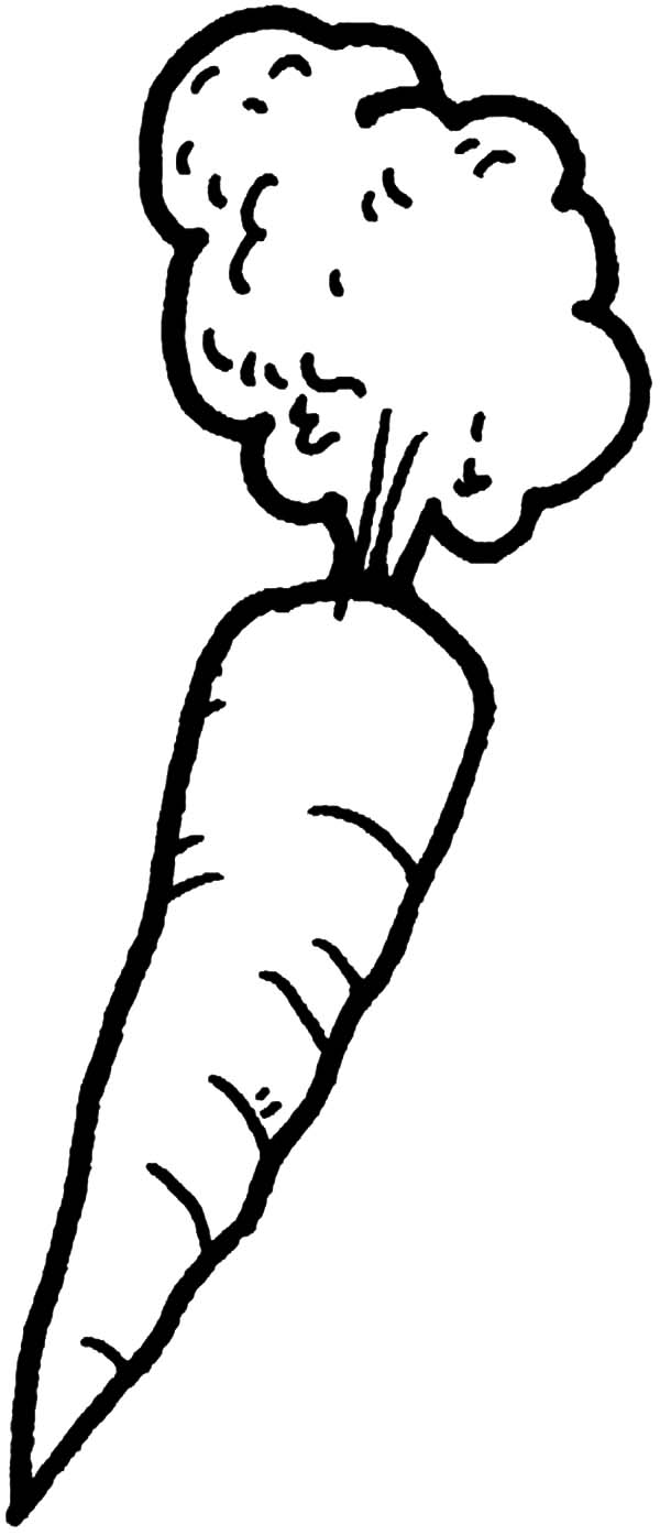 Afro Hair Carrot Coloring Pages