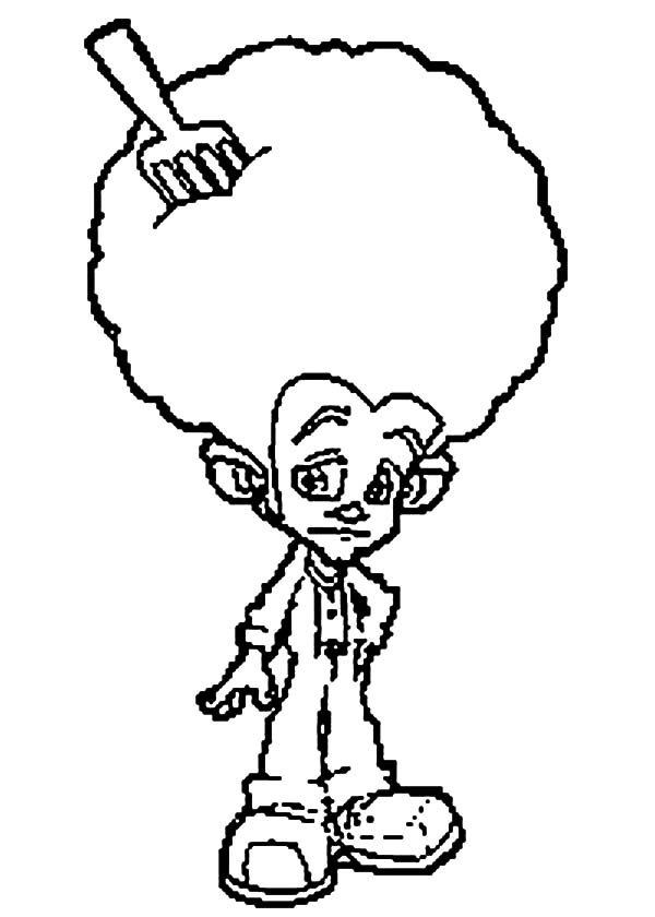 Trollz, : Afro Hair with Fork Trollz Coloring Pages