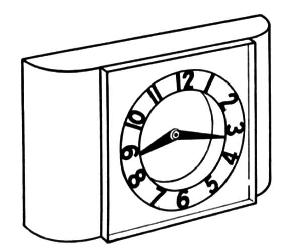 Clock, : Alarm Clock Coloring Pages