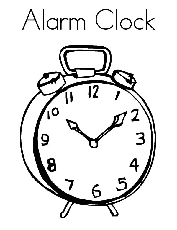 Clock, : Alarm Clock Reminder Coloring Pages
