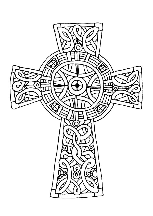 Cornish celtic cross coloring pages cornish celtic cross for Celtic coloring pages printable