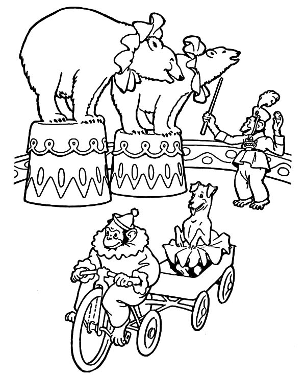 circus cages coloring pages - photo#12