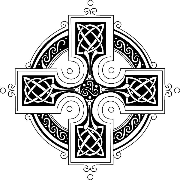Celtic Cross, : An Emblem of Celtic Identity Celtic Cross Coloring Pages