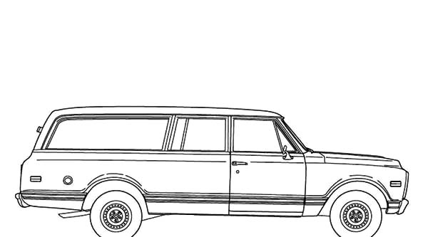 Chevy Cars, : An Old Chevy Cars Coloring Pages