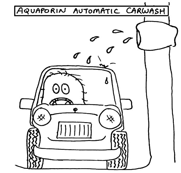 Car Wash, : Aquaporin Automatic Car Wash Coloring Pages