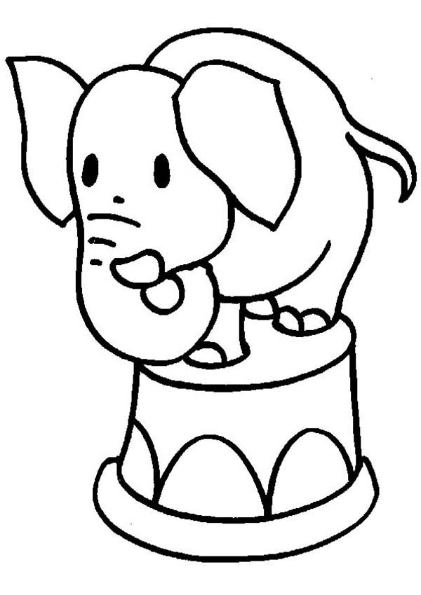 Baby Circus Elephant Coloring Pages Baby Circus Elephant Coloring