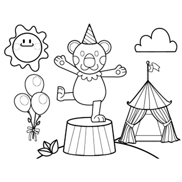 circus cages coloring pages - photo#29