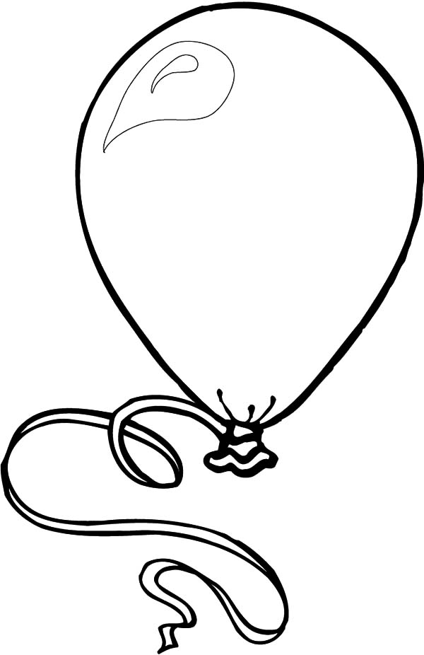 Birthday Balloons, : Balloons Fill with Gas Coloring Pages