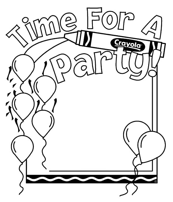 Birthday Balloons, : Balloons for Party Coloring Pages