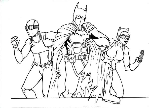 Catwoman, : Batman and Catwoman Coloring Pages