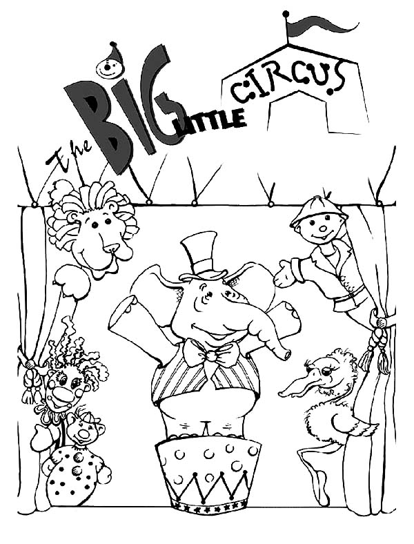 Carnival, Big Little Circus Carnival Coloring Pages: Big Little Circus Carnival Coloring PagesFull Size Image