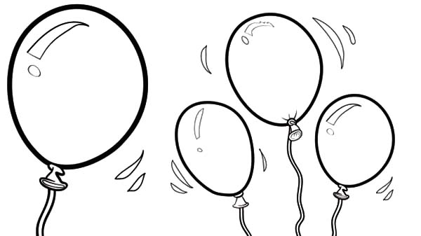 free birthday balloon coloring pages - photo#39